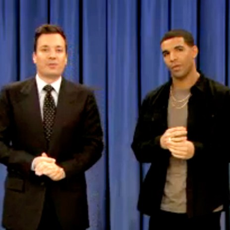 Drake Returns to Late Night with Jimmy Fallon and Plays Beer Hockey