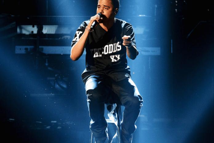 J. Cole Performs at VH1's Super Bowl Blitz
