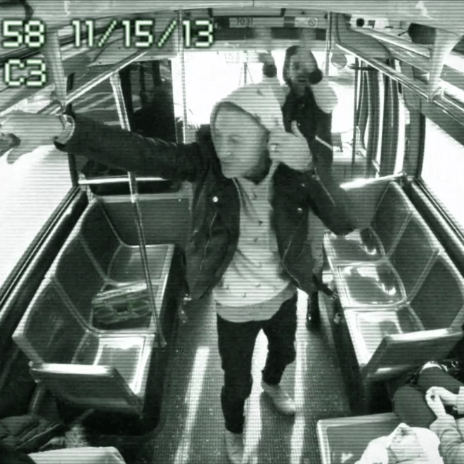 "Macklemore and Ryan Lewis Perform ""Can't Hold Us"" on NYC Bus"