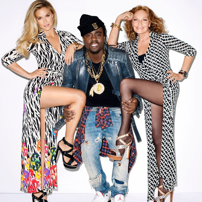 Wale Photographed by Terry Richardson with Bar Refaeli and Diane Von Furstenberg