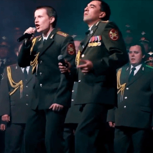 """Daft Punk's """"Get Lucky"""" Performed by Russian Police Choir at Sochi Olympics Opening Ceremony"""