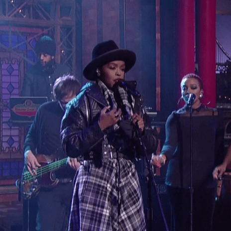 Lauryn Hill Covers The Beatles on 'Late Show with David Letterman'