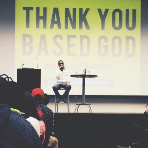 Lil B Lectures and Freestyles at UC Riverside