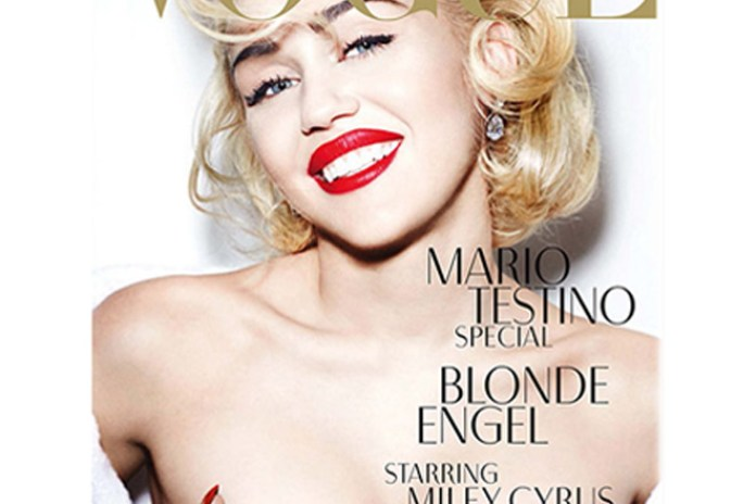 Miley Cyrus on Cover of Vogue Germany
