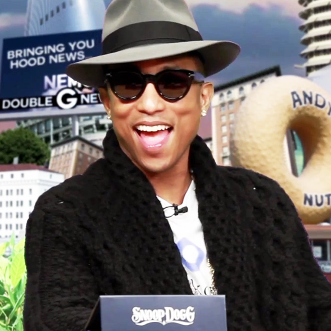 """Pharrell Discusses Daft Punk, Chad Hugo and Making """"Drop it Like it's Hot"""" on Snoop Dogg's GGN Talk Show"""