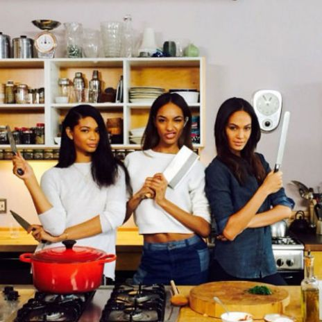 """Yoncé"" Girls, Joan Smalls, Chanel Iman & Jourdan Dunn, Cook Thai Dish in Honor of Beyoncé's Music Video"