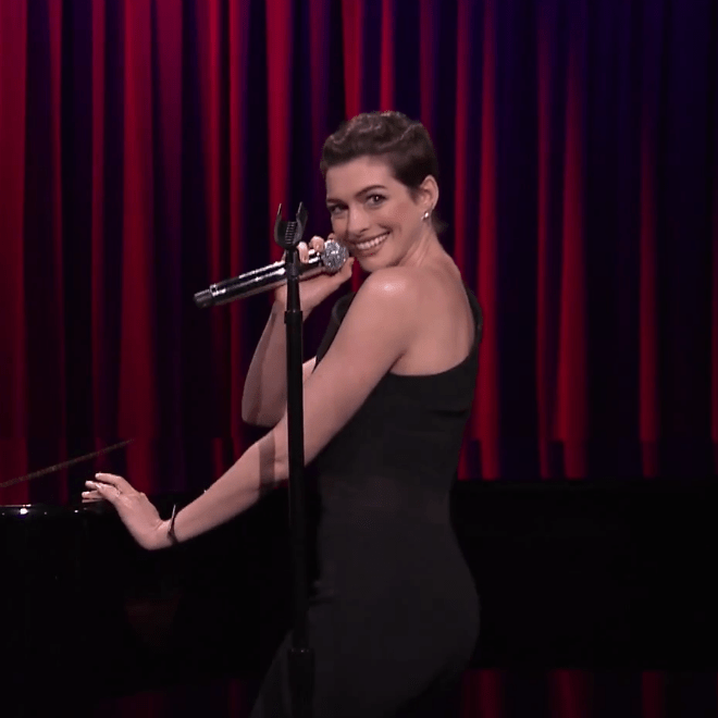 Anne Hathaway Sings Broadway Versions Of Snoop Dogg, 50