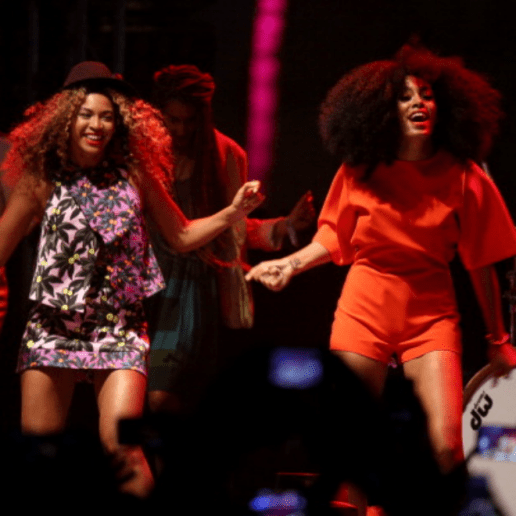 Beyoncé Joins Solange On Stage During Her Set at Coachella