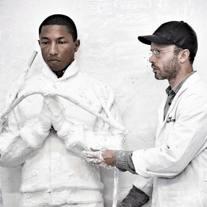 Daniel Arsham Unveils Full-Body Cast of Pharrell for Upcoming 'GIRL' Exhbition at Galerie Perrotin