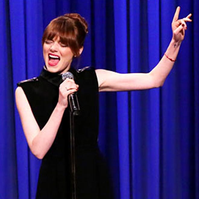 Watch Emma Stone and Jimmy Fallon Cover Iggy Azalea, DJ Khaled And More In Lip-Sync Battle