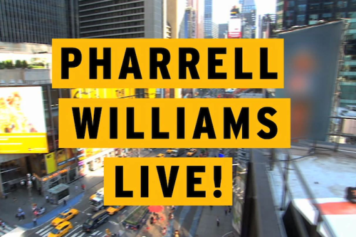 Pharrell Performs on Good Morning America