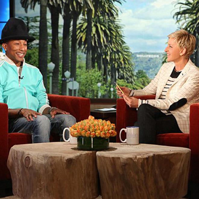 "Watch Pharrell's Interview And ""Marilyn Monroe"" Performance On 'The Ellen DeGeneres Show'"
