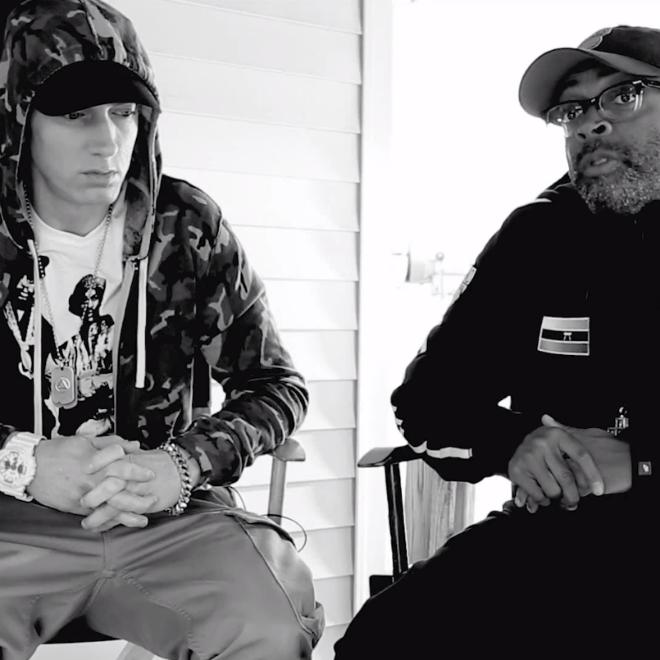 """Eminem & Spike Lee Tease """"Headlights"""" Video"""