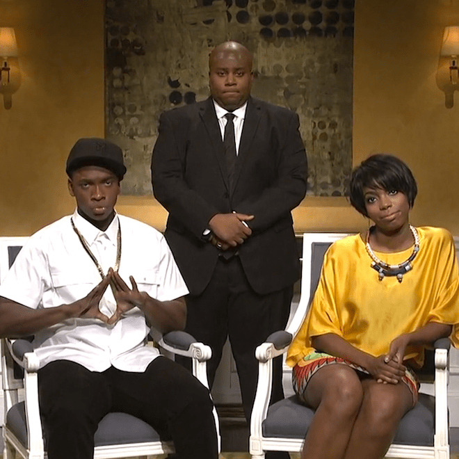 SNL Spoofs JAY Z and Solange Incident