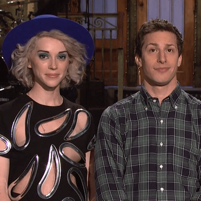 St. Vincent Joins Andy Samberg and Aidy Bryant in Promo Videos for SNL Season Finale