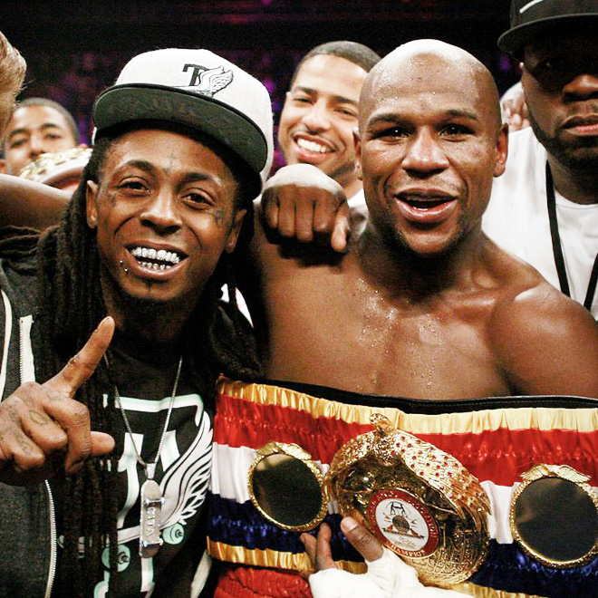 """Watch Lil Wayne Perform """"Believe Me"""" During Floyd Mayweather's Fight Entrance"""