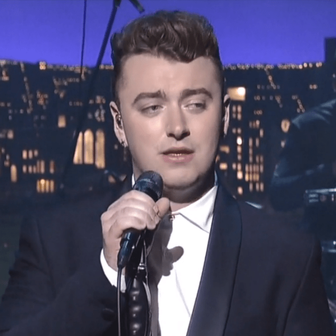 "Sam Smith Performs ""Stay With Me"" on 'Letterman'"