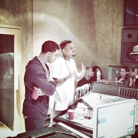 Drake & Chris Brown Together In The Studio