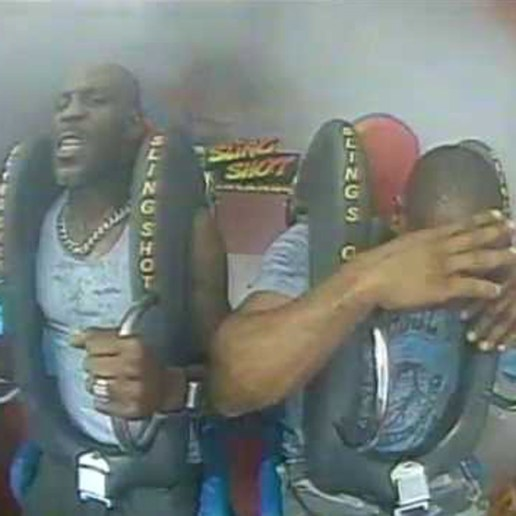 Here's A Hilarious Video Of DMX Scared On A Sling Shot Ride