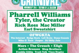 "Pharrell, Rick Ross, Tyler, & More to Headline Odd Future's Third Annual ""Camp Flog Gnaw"" Carnival"