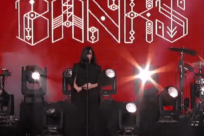 "BANKS Performs ""Beggin For Thread"" on Jimmy Kimmel"
