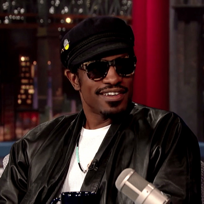 Andre 3000 Stopped By 'Letterman' Last Night