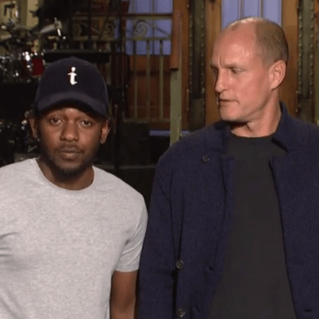 Watch Woody Harrelson Give Kendrick Lamar a Piggyback in SNL Promo