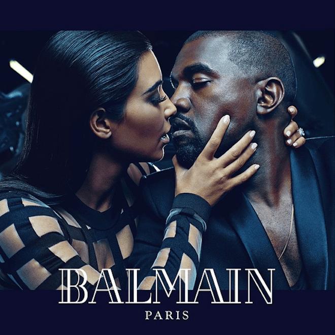 Kanye West and Kim Kardashian Are the New Faces of Balmain