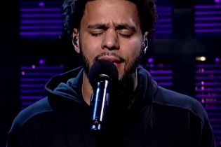 "J. Cole Performs ""Be Free"" on 'Letterman'"