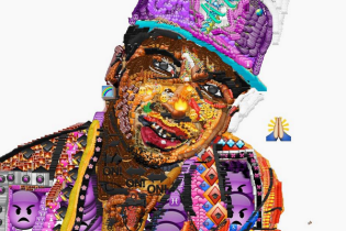 Lil B, Wiz Khalifa, Kim Kardashian, Miley Cyrus Immortalized Through Selfie Art