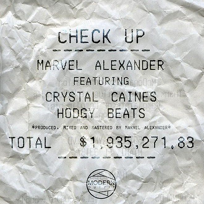Marvel Alexander featuring Hodgy Beats and Crystal Caines - Check Up