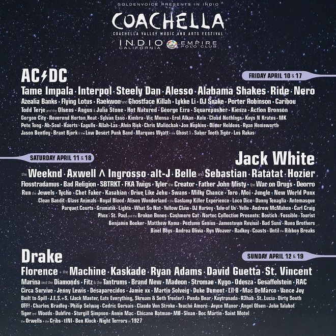 The Coachella 2015 Lineup is Here