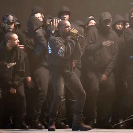 Behind the Scenes Footage of Kanye West at BRIT Awards 2015