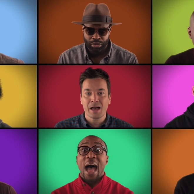 """Jimmy Fallon's """"We Are The Champions"""" A Cappella featuring Sam Smith, Usher, Ariana Grande & More"""