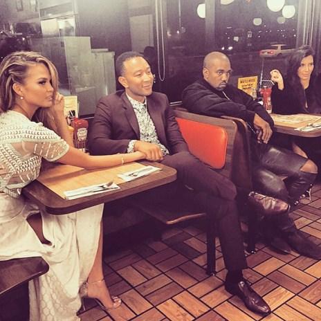 Kanye West and Kim Kardashian's Glorious Waffle House Double Date