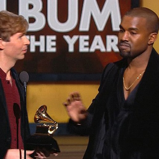 Kanye West Almost Interrupts Beck at the GRAMMYs