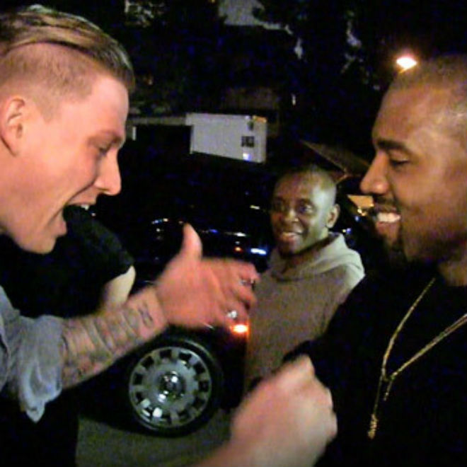 Kanye West Listens to Another Aspiring Rapper, Justin Bieber Shows Support