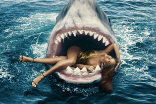 Rihanna Swims with Sharks for the March Issue of Harper's BAZAAR