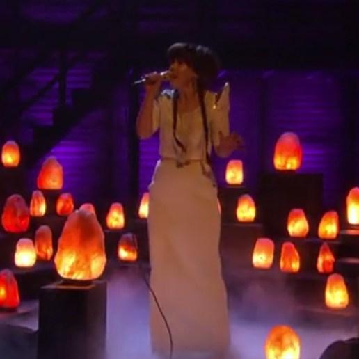 "Purity Ring Perform ""Bodyache"" Live on Conan"