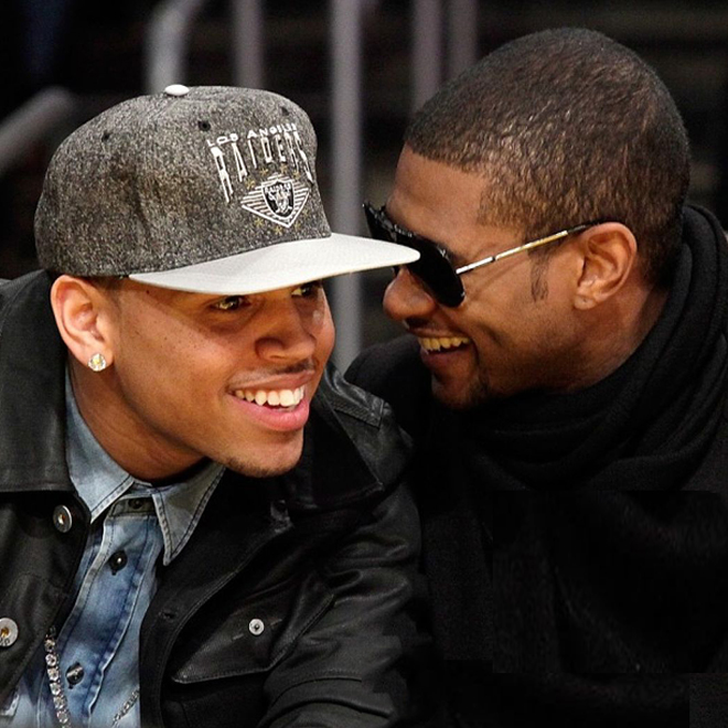 Usher featuring Chris Brown - All Falls Down