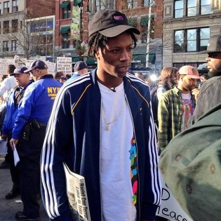 Joey Bada$$ Joins the Freddie Gray Protests in New York