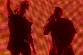 Kanye West Crowd Surfs During His Surprise Appearance at The Weeknd's Coachella Set