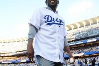 Watch Kendrick Lamar Throw Opening Pitch at Dodger Stadium
