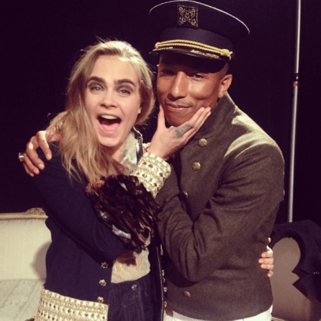 Pharrell Brings Cara Delevingne On Stage to Perform Their 'Chanel' Song