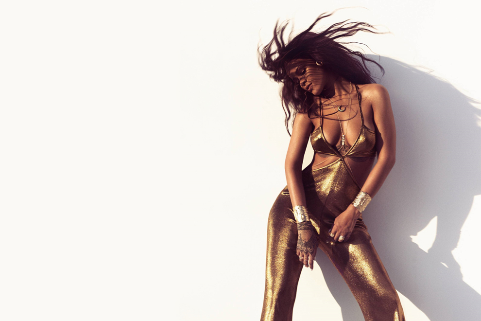 rihanna displays her fit physique in her first puma ad