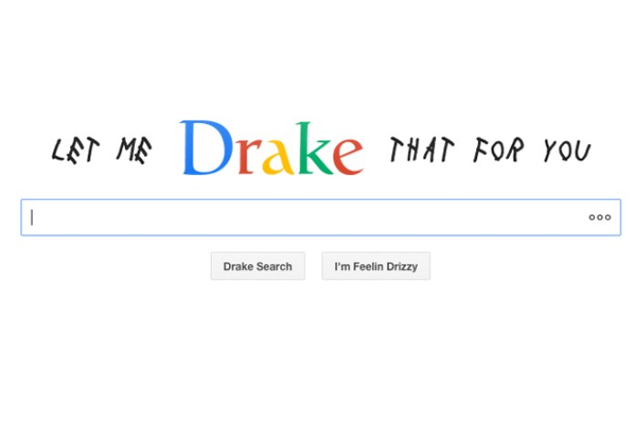 Try Out the First-Ever Drake Search Engine