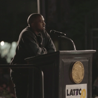 Kanye West Holds Speech on Ambition & Haters at Los Angeles Trade Technical College