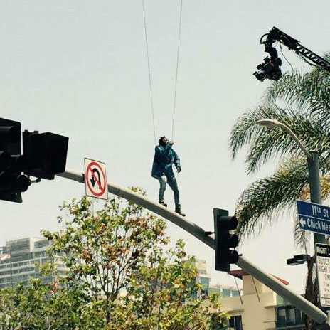 "Kendrick Lamar in Los Angeles to Continue the Shoot for His Music Video For ""Alright"""