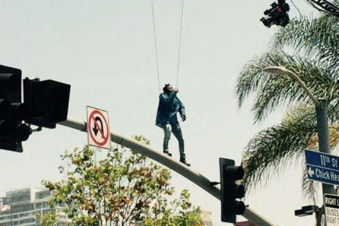 """Kendrick Lamar in Los Angeles to Continue the Shoot for His Music Video For """"Alright"""""""