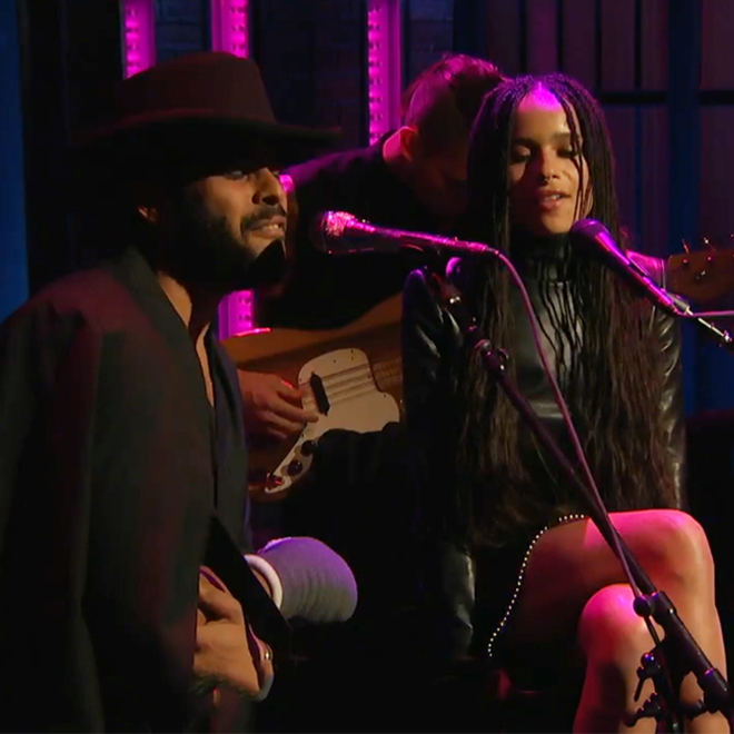 """Watch Zoë Kravitz and Twin Shadow Cover Sade's """"No Ordinary Love"""" on 'Seth Meyers'"""